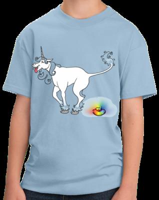 Unicorn Pooping A Rainbow Turd T-shirt