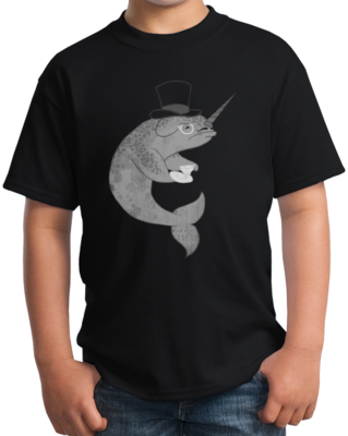 Mr. Fancypants Sir Narwhal T-shirt