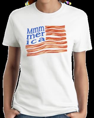 Mmmerica Bacon Flag T-shirt
