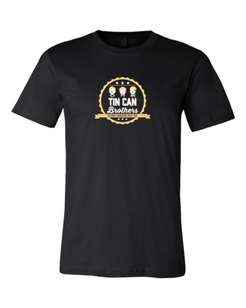 Tin Can Brothers T-shirt Standard Black Blank with Depth