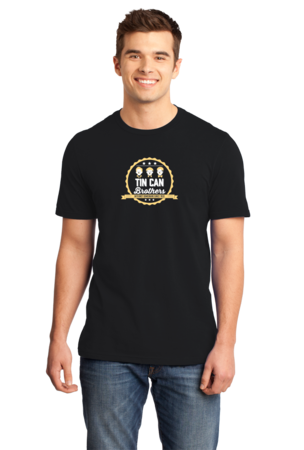 Tin Can Brothers T-shirt Standard Black Stock Model Front 1