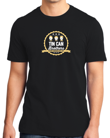 Tin Can Brothers T-shirt Standard Black Stock Model Front 1 Thumb Front