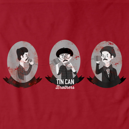 Tin Can Brothers Coffee Red Art Preview