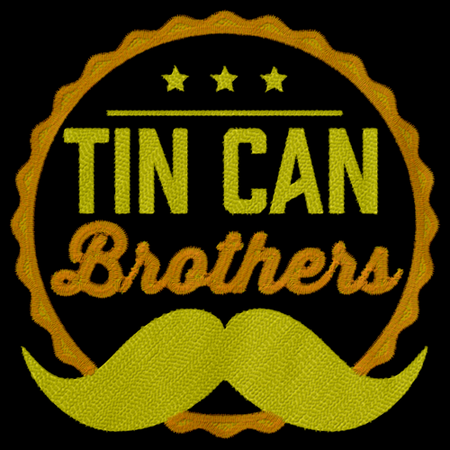 Tin Can Brothers Embroidered Cap Black Art Preview
