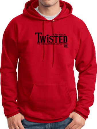 StarKid Twisted Logo Pullover Hoodie Pullover Hoodie Red Stock Model Front 1 Thumb Front
