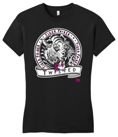 StarKid Twisted Tiger Lover Girly Black Blank with Depth Front