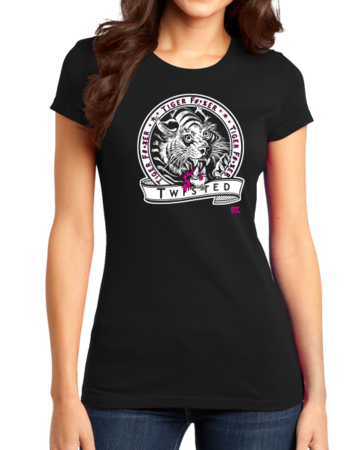 StarKid Twisted Tiger Lover Girly Black Stock Model Front 1 Thumb Front