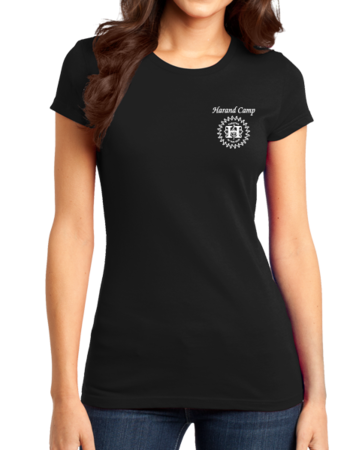 Harand Theatre Camp - Music Staff White Print Girly Black Stock Model Front 1 Thumb