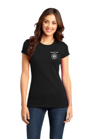 Harand Theatre Camp - Music Staff White Print Girly Black Stock Model Front 1