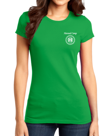 Harand Theatre Camp - Music Staff White Print Girly Green Stock Model Front 1 Thumb