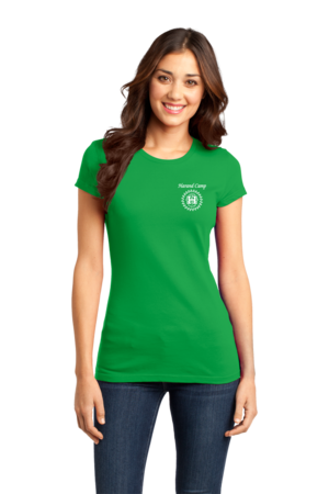 Harand Theatre Camp - Music Staff White Print Girly Green Stock Model Front 1