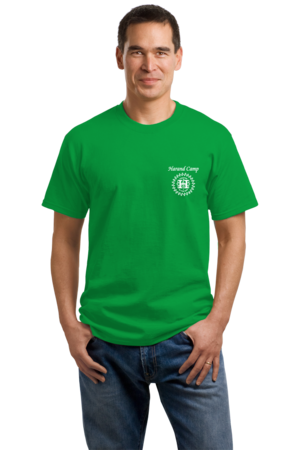 Harand Theatre Camp - Music Staff White Print Unisex Green Stock Model Front 1