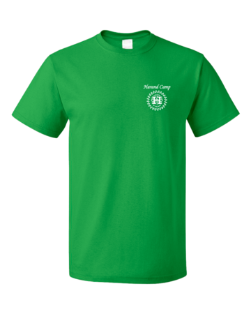 Harand Theatre Camp - Music Staff White Print Unisex Green Blank with Depth
