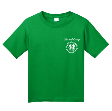 Harand Theatre Camp - Music Staff White Print Youth Green Blank with Depth