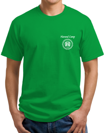 Harand Theatre Camp - Music Staff White Print Unisex Green Stock Model Front 1 Thumb