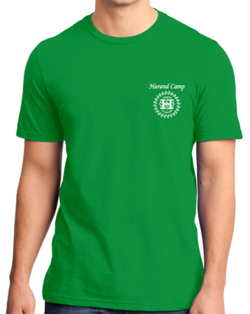 Harand Theatre Camp - Music Staff White Print Standard Green Stock Model Front 1 Thumb
