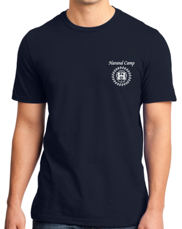 Harand Theatre Camp - Music Staff White Print Standard Navy Stock Model Front 1 Thumb