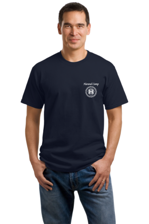 Harand Theatre Camp - Music Staff White Print Unisex Navy Stock Model Front 1