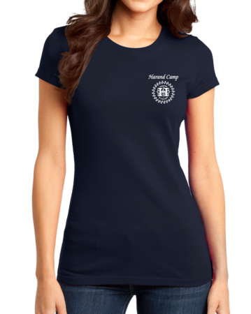 Harand Theatre Camp - Music Staff White Print Girly Navy Stock Model Front 1 Thumb