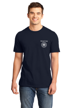 Harand Theatre Camp - Music Staff White Print Standard Navy Stock Model Front 1