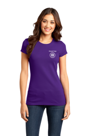 Harand Theatre Camp - Music Staff White Print Girly Purple Stock Model Front 1