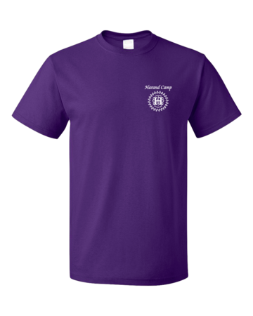 Harand Theatre Camp - Music Staff White Print Unisex Purple Blank with Depth