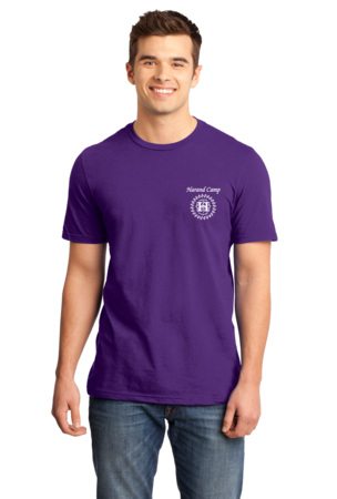 Harand Theatre Camp - Music Staff White Print Standard Purple Stock Model Front 1