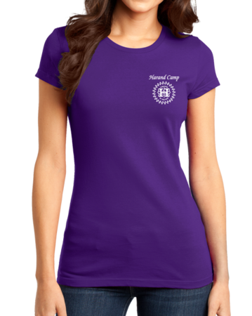 Harand Theatre Camp - Music Staff White Print Girly Purple Stock Model Front 1 Thumb