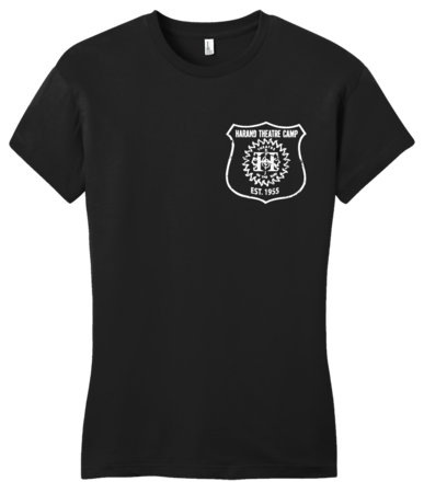 Harand Theatre Camp - Left Chest White Shield Logo Girly Black Blank with Depth