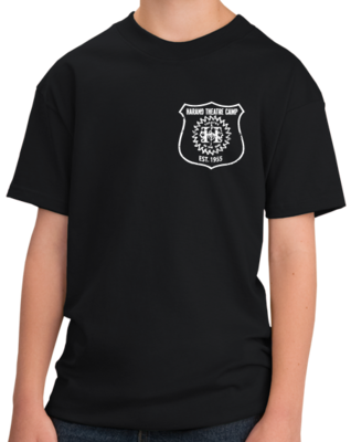 Harand Theatre Camp - Left Chest White Shield Logo T-shirt