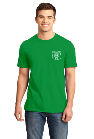 Harand Theatre Camp - Left Chest White Shield Logo Standard Green Stock Model Front 1