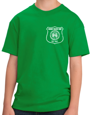 Harand Theatre Camp - Left Chest White Shield Logo T-shirt