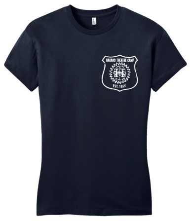 Harand Theatre Camp - Left Chest White Shield Logo Girly Navy Blank with Depth