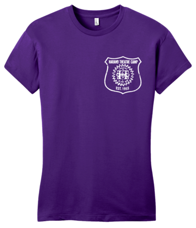 Harand Theatre Camp - Left Chest White Shield Logo Girly Purple Blank with Depth