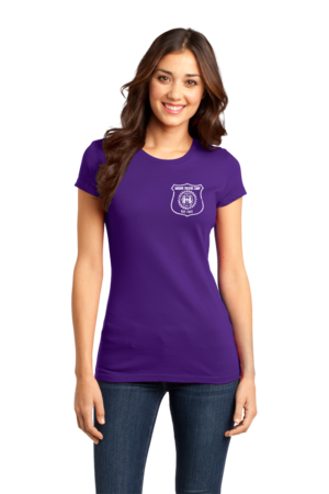 Harand Theatre Camp - Left Chest White Shield Logo Girly Purple Stock Model Front 1