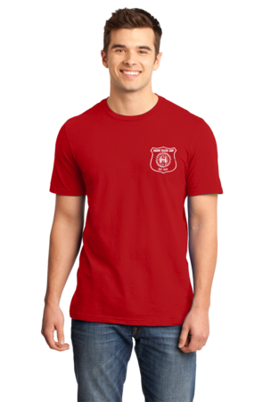 Harand Theatre Camp - Left Chest White Shield Logo Standard Red Stock Model Front 1