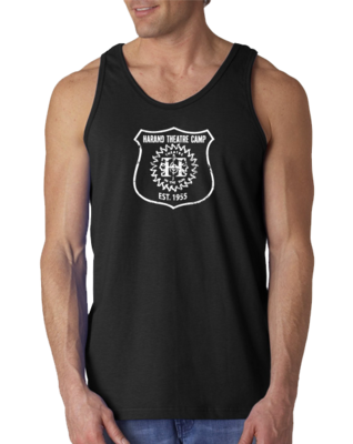 Harand Theatre Camp - Full Chest White Shield Logo Tank Top