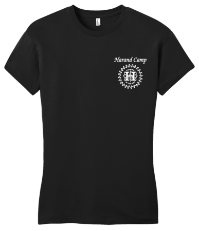 Harand Theatre Camp - Sun Logo Left Chest White Print Girly Black Blank with Depth