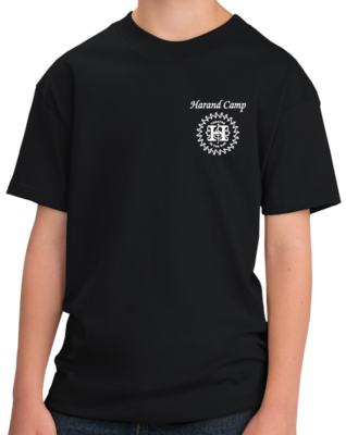 Harand Theatre Camp - Sun Logo Left Chest White Print T-shirt