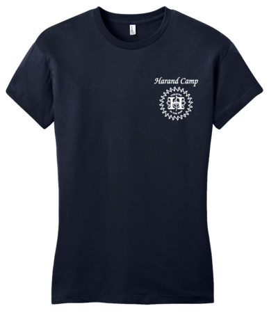 Harand Theatre Camp - Sun Logo Left Chest White Print Girly Navy Blank with Depth