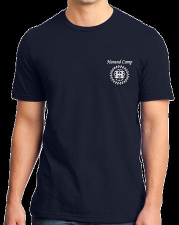 Harand Theatre Camp - Sun Logo Left Chest White Print Standard Navy Stock Model Front 1 Thumb
