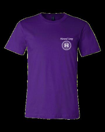 Harand Theatre Camp - Sun Logo Left Chest White Print Standard Purple Blank with Depth