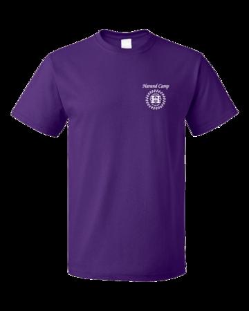 Harand Theatre Camp - Sun Logo Left Chest White Print Unisex Purple Blank with Depth