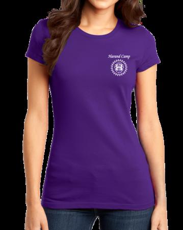 Harand Theatre Camp - Sun Logo Left Chest White Print Girly Purple Stock Model Front 1 Thumb