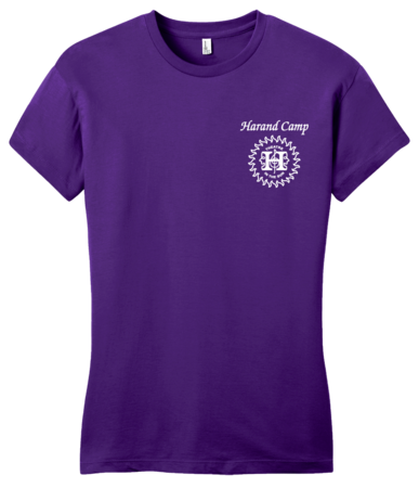 Harand Theatre Camp - Sun Logo Left Chest White Print Girly Purple Blank with Depth
