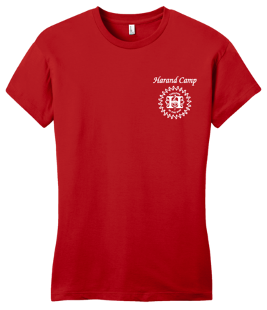 Harand Theatre Camp - Sun Logo Left Chest White Print Girly Red Blank with Depth