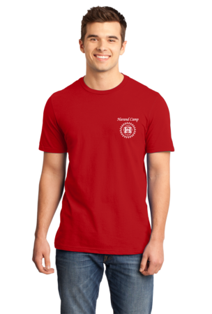 Harand Theatre Camp - Sun Logo Left Chest White Print Standard Red Stock Model Front 1
