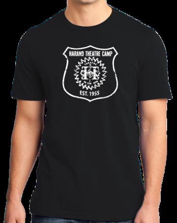 Harand Theatre Camp - Full Chest White Shield Logo Standard Black Stock Model Front 1 Thumb