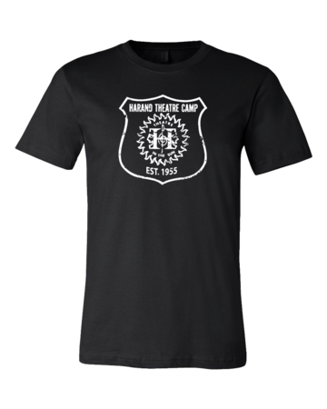Harand Theatre Camp - Full Chest White Shield Logo Standard Black Blank with Depth