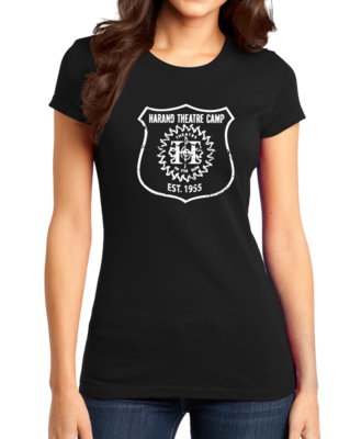 Harand Theatre Camp - Full Chest White Shield Logo T-shirt